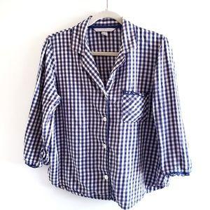 VICTORIA'S SECRET Gingham Pajama Top Medium